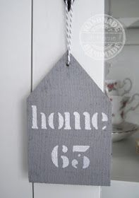 Handmade @ Home: Grijze houten huisjes