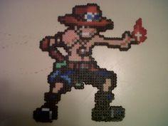 hema beads | Portgas D Ace. One Piece Hama Beads by Bamuga