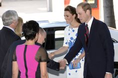 Prince William, Duke of Cambridge and Catherine, Duchess of Cambridge meet with dignatries before a formal reception at the Brisbane Convention Centre on April 19, 2014 in Brisbane, Australia.