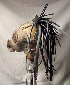 Steampunk Tie wrap hair