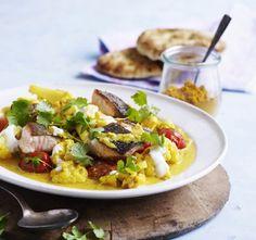 Lax och blomkål i curry