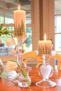 diy grass candles by muriel