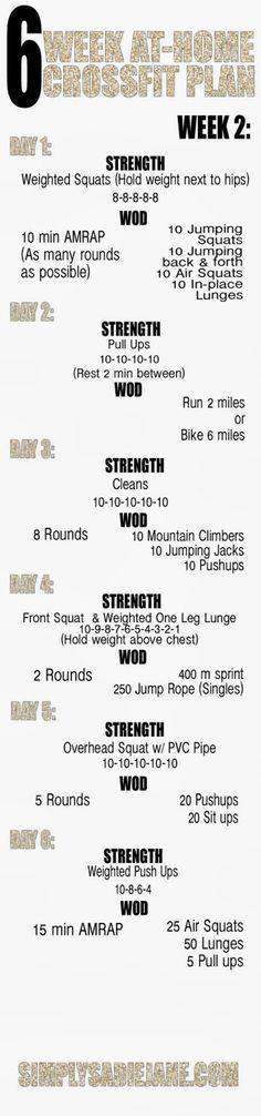 Run Walk Lift: Crossfit Workouts WEEK 2