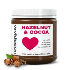 Wyldsson's hazelnut and cocoa spread contains organic peruvian cocoa and roasted hazelnuts. Gluten free & vegan
