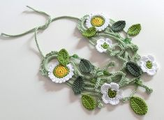 Primavera Crocheted Necklace  Lovely spring-like work from Silvia66