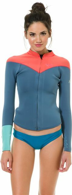 ROXY K MEADOR FRONT ZIP LS JACKET > Gear > Wetsuits > Womens Surf Tops | Swell.com