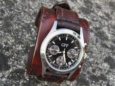 Unisex Leather Watch Strap Vintage Watch Strap by loversbracelets