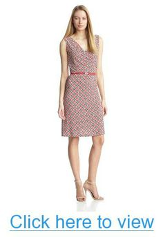 Anne Klein Women's Fouldard Print Sleeveless Dress #Anne #Klein #Womens #Fouldard #Print #Sleeveless #Dress
