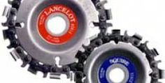 Lancelot and Squire chain blades are used on disc or angle grinders.
