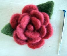 Pruning Roses – 2019 - Wool Diy Pruning Roses 2019 Needle Felted Rose The post Pruning Roses 2019 appeared first on Wool Diy. Felt Roses, Felt Flowers, Crochet Flowers, Fabric Flowers, Felted Wool Crafts, Felt Crafts, Felted Slippers Pattern, Pruning Roses, Wool Embroidery