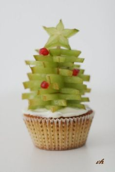 Christmas Cupcakes #GreatCakeDecorating #IdeasAndInspiration We love!