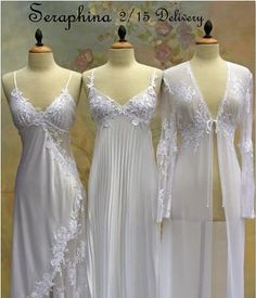Absolutely stunning nightgowns and robe that I would love to wear every night