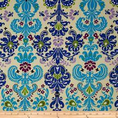 Enchanted Damask Wallpaper Turquoise