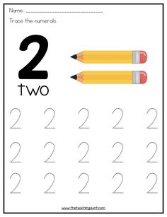 Number Tracing Worksheets for Preschoolers This free printable feature number tracing worksheets in vertical orientation. This is great for preschoolers learning how to write numbers. Preschool Number Worksheets, Teaching Numbers, Numbers Kindergarten, Preschool Writing, Numbers Preschool, Tracing Worksheets, Preschool Learning Activities, Writing Numbers, Kindergarten Worksheets