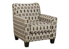 Janley Contemporary Accent Chair with Geometric Print Fabric by Ashley at Godby Home Furnishings Accent Furniture, Home Furniture, Furniture Chairs, Nebraska Furniture Mart, Accent Chairs For Living Room, Room Planning, Upholstered Chairs, Home Furnishings, Armchair