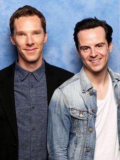Benedict Cumberbatch (Sherlock Holmes) and Andrew Scott (James Moriarty) of SHERLOCK (BBC).