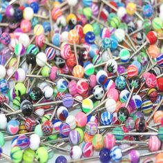 "Lot of 200 Assorted Surgical Steel Barbell Tongue Rings 14 Gauge or 1.6mm- Length 5/8"" or 16mm: Jewelry: Amazon.com"
