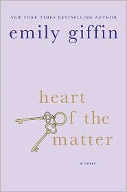 Heart of the Matter by Emily Giffin.  from the same author as Something Borrowed (now a major motion picture)