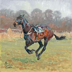 Footloose and Fancy Free Racehorse Giclee Print by Malcolm Coward