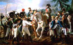Kaiser Napoleon hält am Morgen der Schlacht eine Rede an die bayerischen Soldaten