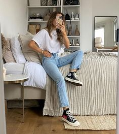 Cute Fall Outfits, Casual Winter Outfits, Simple Outfits, New Outfits, Summer Outfits, Fashion Outfits, Black Converse Outfits, Clothing Staples, Mode Inspiration