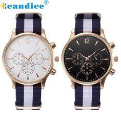 Splendid Luxury Fashion Band Canvas Mens Analog Wrist Watches Men Masculino Reloje