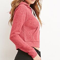 Forever 21 cropped hoodie Size small. Similar to American apparel Forever 21 Tops