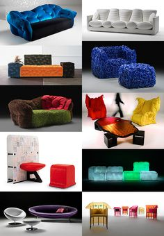Custom Upholstered Furniture by Meritalia is modern and fun! | Captivatist