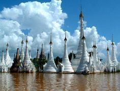 Pagodas at Inle Lake
