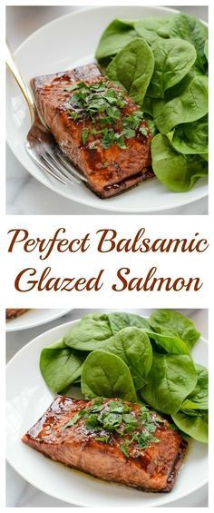 Balsamic Glazed Salmon. Ready in only 20 minutes and cooks perfectly every time!