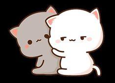 Chibi Cat, Cat Wallpaper, Gifs, Hello Kitty, Peach, Fictional Characters, Art, Couples, Kittens