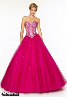 Prom Dresses / Gowns Style 97125: Tulle Ballgown with Jeweled Beading http://www.morilee.com/prom/paparazzi/97125