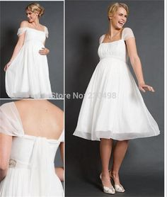 Plus Size Short Wedding Dresses | 2015-Plus-Size-Short-Maternity-Wedding-Dress-A-Line-Cap-Sleeves ...
