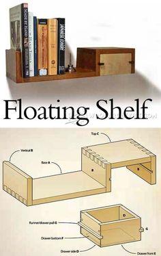 Floating Shelf Plan.