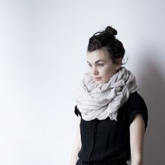 """1st look in our """"how to wear a SCARFSHOP giant scarf"""" series: wrapped (and wrapped and wrapped) and tied. #scarfshop #howtowearscarfshopgiant #scarfshopstyle  Modeled and styled by Madelynn Hackwith Furlong @Madelynn Hackwith Furlong 