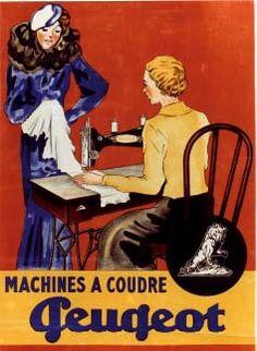 old poster -ad for Peugeot. Vintage Advertising Posters, Vintage Advertisements, Vintage Ads, Vintage Images, Vintage Posters, Retro Ads, Vintage Magazines, Poster Ads, Sale Poster