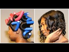 [22] Flexi Rod Tutorial for relaxed hair, natural hair and transitioning hair.