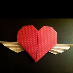 Origami Valentine final product!
