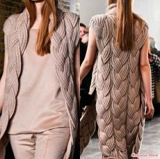 Knitting Patterns Vest Cardigan – just a bomb! You must owe it to yourself … Crochet Baby Cardigan Free Pattern, Crochet Jacket, Vest Pattern, Knit Vest, Pullover Mode, Knitted Coat, Crochet Fashion, Knitting Designs, Knitting Patterns