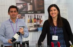 Aresti Wines the lovely Barbara and Francisco ready to great guests www.arestichile.com