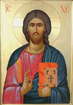 Icon of Christ the Teacher. - it does not have the Greek I AM in the nimbus. Religious Icons, Religious Art, Christ Pantocrator, Greek Icons, Images Of Christ, Holy Quotes, Byzantine Icons, Orthodox Icons, Jesus Christ
