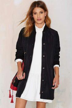 Long Time Midi Bomber Jacket | Shop Clothes at Nasty Gal!