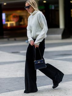 Stockholm Fashion Week: slouchy monochrome separates.