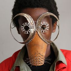 "Cyrus Kabiru is a self-taught artist from Kenya that uses found objects to create bold and unusual eyewear sculptures.  ""Kabiru has been building his futuristic glasses since childhood, and dedicates much of his time to producing works for his C-Stunner series of eyeglasses and coordinating photographs.  Kabiru's practice is deeply tied to Afrofuturism, a genre that combines science fiction, magical realism, and historical fiction with the culture and politics of the African diaspora.&qu..."