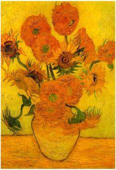 Van Gogh Museum, Vase With Fifteen Sunflowers, Van Gogh Still Life, Van Gogh Arte, Art Sur Toile, Van Gogh Sunflowers, Art Beat, Most Famous Paintings, Van Gogh Paintings