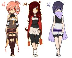 Rules: - Once she belongs to you, you are allowed to change what ever you… Anime Ninja, Anime Naruto, Naruto Oc, Character Costumes, Character Outfits, Anime Outfits, Cool Outfits, Ninja Outfit, Pretty Designs