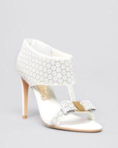 Salvatore Ferragamo Open Toe Platform Sandals - Pellas Lace High Heel | Bloomingdales's