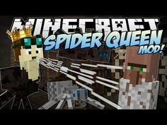 Minecraft | SPIDER QUEEN MOD! (Rule Over a Spider Army!) | Mod Showcase