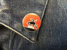 Vintage Southwestern Native American on Horse Cactus Desert Sunset Hat Lapel Pin - Tie Tack by ElkHugsVintage on Etsy