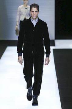 Fabio Mancini opens the Giorgio Armani fall winter 2016 womenswear collection Fashion Show in Milan